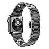 Apple Watch Band 38mm, Biaoge Premium Stainless Steel Ultra Slim 2.0mm Light Weight 65g Bracelet Strap Replacement for Apple Watch Series 2 Series 1 (38mm Space Gray)