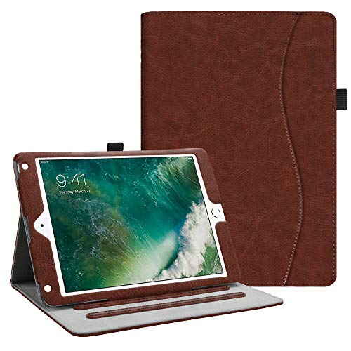 Fintie iPad 9.7 2018 2017 / iPad Air 2 / iPad Air Case - [Corner Protection] Multi-Angle Viewing Folio Cover w/Pocket, Auto Wake/Sleep for Apple iPad 6th / 5th Gen, iPad Air 1/2, Vintage Brown