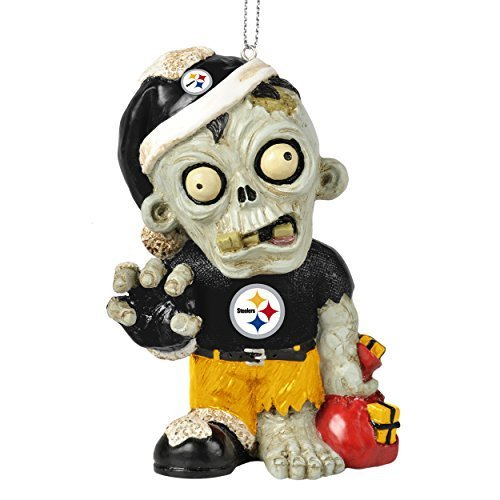 "NFL 2014 Zombie Christmas Hanging Ornament 4"" (Pittsburgh Steelers)"