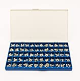 Polycarbonate Temporary Dental Crowns Box Kit 180 pcs with Paper Guide Chart