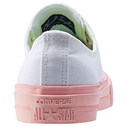 Converse Sneakers Chuck Taylor All Star Ii C151089, Zapatillas Unisex Adulto blanco, rosa