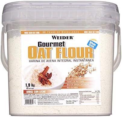 Weider Oat Gourmet. Harina de Avena Integral. Fuente de proteína con bajo contenido en azúcares. Sabor Arroz con ...