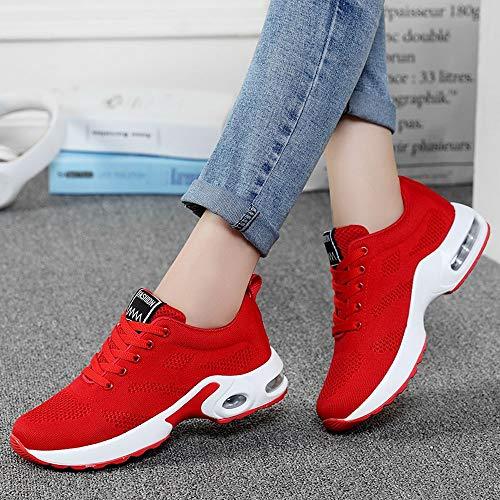Sportive Sneakers Da Casual Da Corsa Scarpe Traspirante Battenti Scarpe Running Donna Scarpa Stivali Donna Invernali Tessute Studente ASHOP Rosso Scarpe wqpwB0
