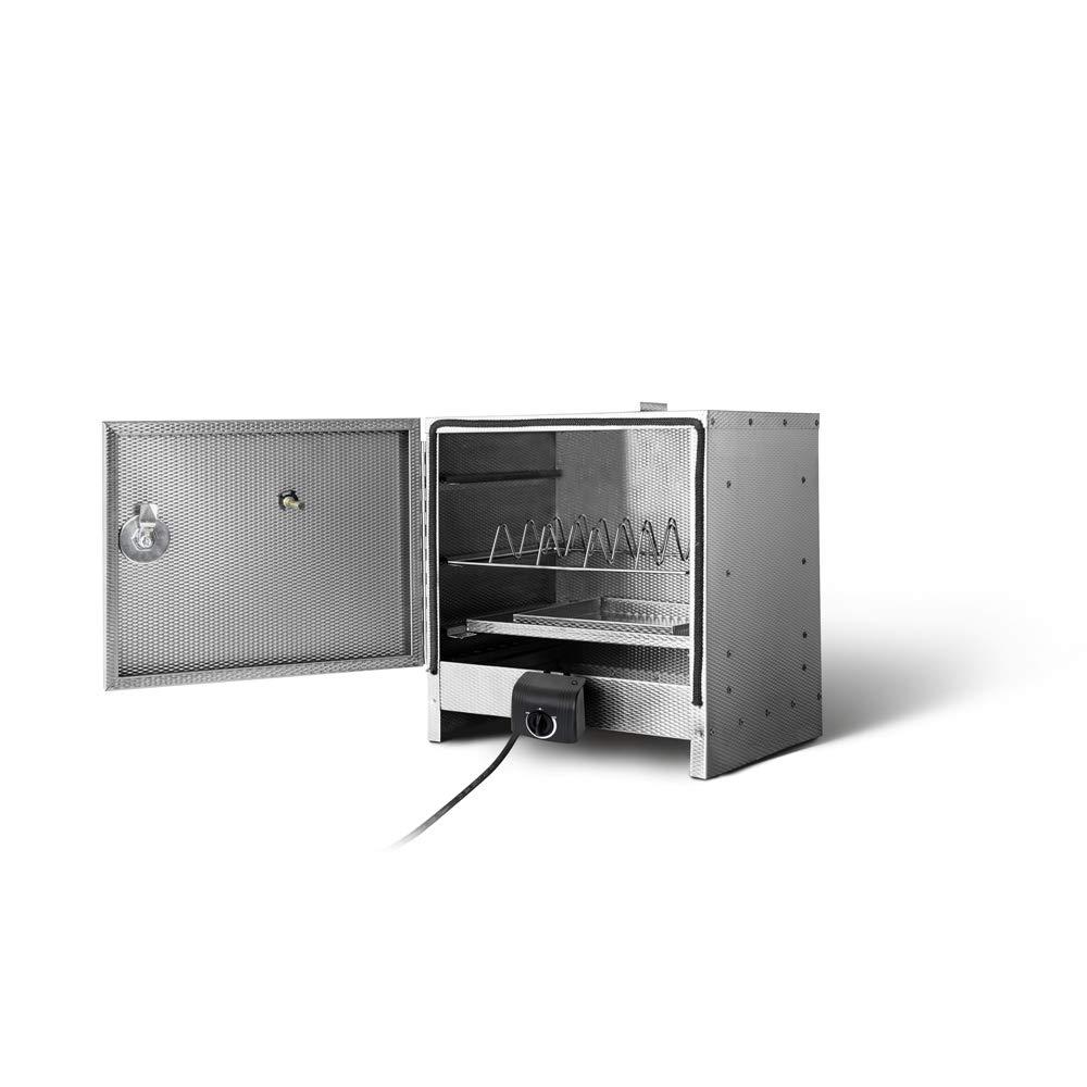 smoki - Mesa de eléctrico de ahumar 40 x 39 x 33 cm Acero ...