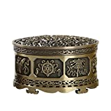 Fitlyiee Beautiful Incense Holder Alloy Burner Holder Art Carved Burner for Home Decor