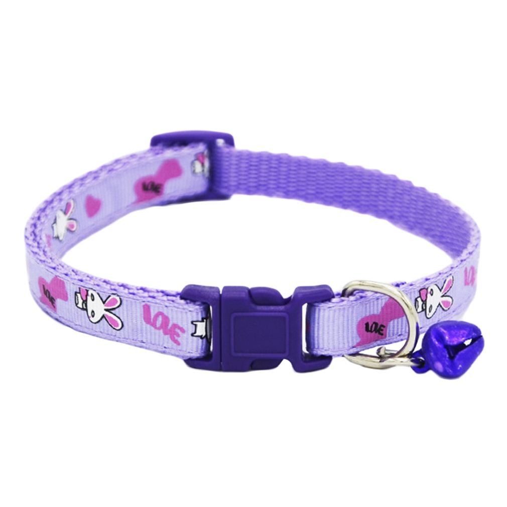 Yamalans Cute Cartoon Rabbit Printed Quick Release Buckle Cat Puppy Dog Collar Necklace