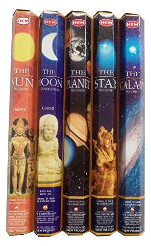 Hem Celestial Incense Variety Sun Moon Star Planet Galaxy, (200 - Hem Incense Stick