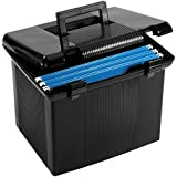 "Oxford Portfile Large Portable File Box, Black, 11""H x 14"" W x 11-1/8"" D (41742)"