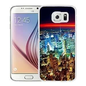 NEW Unique Custom Designed Samsung Galaxy S6 Phone Case With Seattle Night City Lights Red Horizon_White Phone Case Kimberly Kurzendoerfer