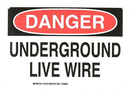 Brady 127027 Electrical Hazard Sign, Legend