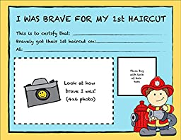 Imagination Booster Fire Chief First Haircut Certificates