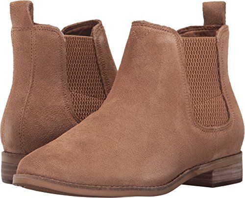 TOMS Women's Ella Booties Toffee Suede 8