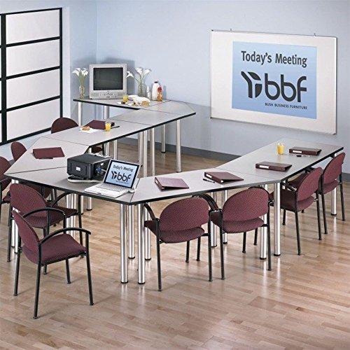 Bush Business Furniture Aspen Rectangle Table, 48''W x 29''D, White Spectrum, Standard Delivery