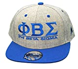 Phi Beta Sigma Flatbill Snapback Hats Original Heather/Royal