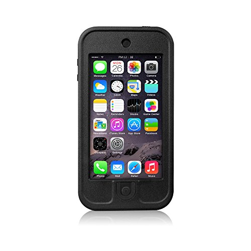 FAVOLCANO® iPod Touch 5th Generation Waterproof Case, Newest Waterproof Shockproof Dirtproof Snowproof Dustproof Sweatproof Heavy Duty Defender Case Durable Full Sealed Protection Case with Kickstand for Apple iPod Touch 5th (Black)