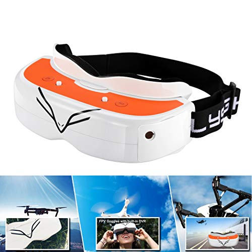 (FPV Goggles Flysight Falcon FG02 Wireless RC Drone Video Goggles with DVR HDMI in and Custom Receive Module for Racing Drones DJI Phantom Compatible Besides Fatshark RunCam Goggles)