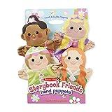 Melissa & Doug Storybook Friends Hand Puppets, Puppet Sets (Princess, Fairy, Mermaid, and Ballerina, Soft Plush Material, Set of 4)