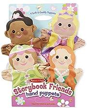 Melissa & Doug Storybook Friends Hand Puppets (Set of 4) - Princess, Fairy, Mermaid, and Ballerina