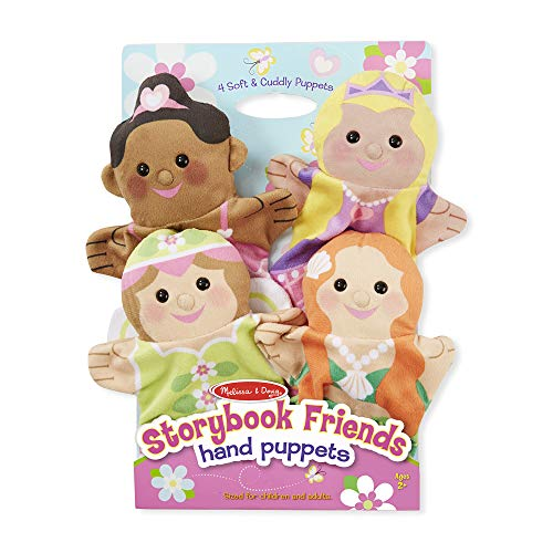 Melissa & Doug Storybook Friends Hand Puppets, Puppet Sets, Princess, Fairy, Mermaid, and Ballerina, Soft Plush Material, Set of 4, 14