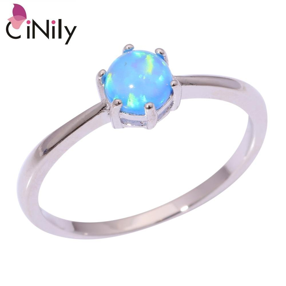 Gemmart Created White Pink Blue Orange Green engagement rings fashion rings sterling silver