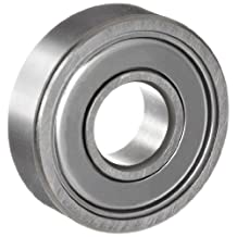 NSK 696ZZ Deep Groove Ball Bearing, Single Row, Double Shielded, Pressed Steel Cage, Normal Clearance, Metric, 6mm Bore, 15mm OD, 5mm Width, 40000rpm Maximum Rotational Speed, 670N Static Load Capacity, 1730N Dynamic Load Capacity