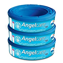 Angelcare Nappy Disposal System Refill Cassettes – Pack of 3