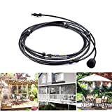 TimmyHouse 9.8FT Outdoor Misting Cooling System Fan Cooler Patio Water Mister Mist Nozzles