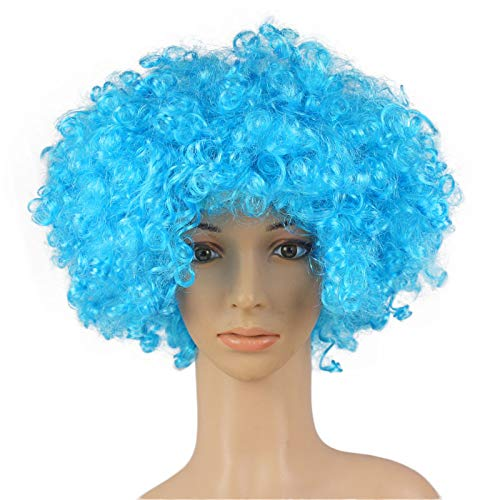 JYS Clown Wig Xmas Ideas with Foam Clown Nose Crazy Wigs for April Fools Day Jokes Birthday Party│Fancy Dress Party Wigs, Afro Wig, Halloween Wig, Christmas Wig, Masquerade Wig (J) ()