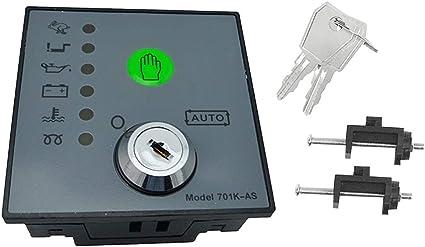 2 Piezas Llaves P Prettyia 1 Pieza M/ódulo de Control de Arranque Autom/ático del Controlador de Generador 701K-AS DSE701AS