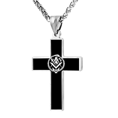 Amazon Elelab Fashion Freemasonry Masonic Cross Necklace Zinc