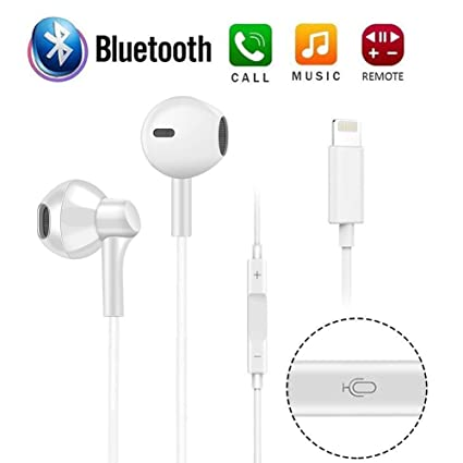 20650ea552e ECZO Bluetooth Headset Earbuds & Headphones with Stereo Sound + Built-in  Microphone + Volume