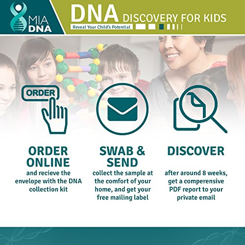 2 in Diet Nutrition + Discovery for kids Home DNA Kit I Reveal Your kid's Find your children's they are by the latest