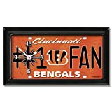 Cincinnati Bengals NFL Football #1 Fan Team Logo License Plate made Clock