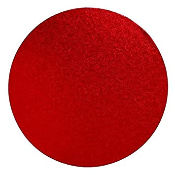 9e98a64921 Image Unavailable. Image not available for. Color  Round Cake Board - Red  ...