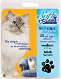 Soft Claws Nail Caps Medium Black CLS for Cats 9-13 lbs