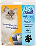 Soft Claws Feline Nail Caps - Black - Medium