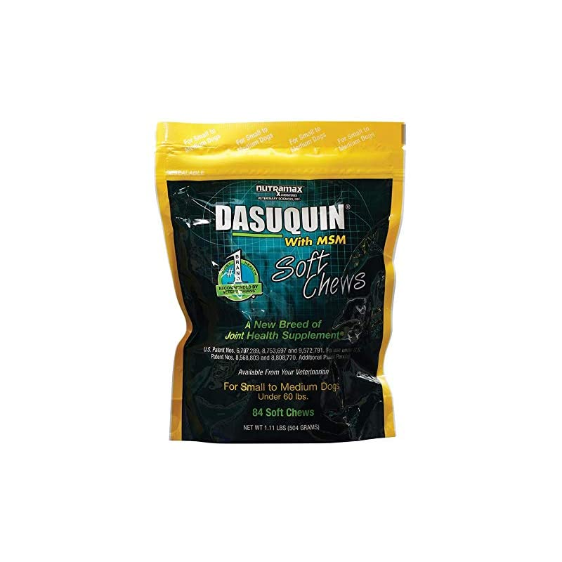 dog supplies online nutramax dasuquin with msm soft chews, small/medium dog, 84 count