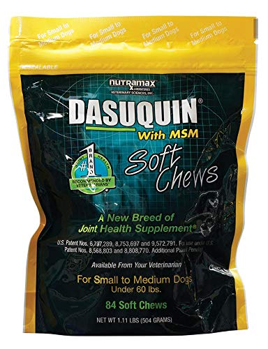 Joint Rescue Chewable - Nutramax Dasuquin with MSM Soft Chews, Small/Medium Dog, 84 Count