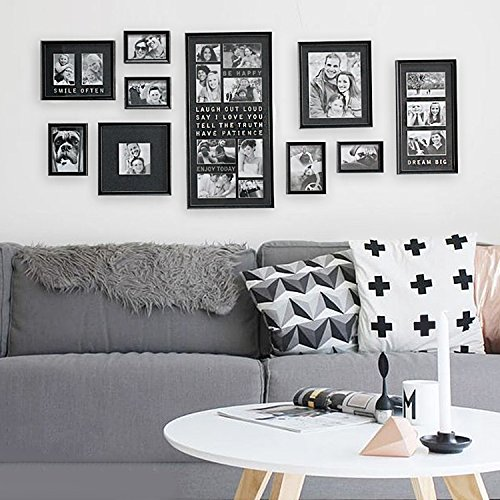 (Jerry & Maggie - Luxury Typography Sets | Photo Frame | Wall Decor Bar - Wall Decor Combination - Gold Black PVC Picture Large Frame Selfie Gallery Collage Wall Hanging System - Wall Mounting Design)