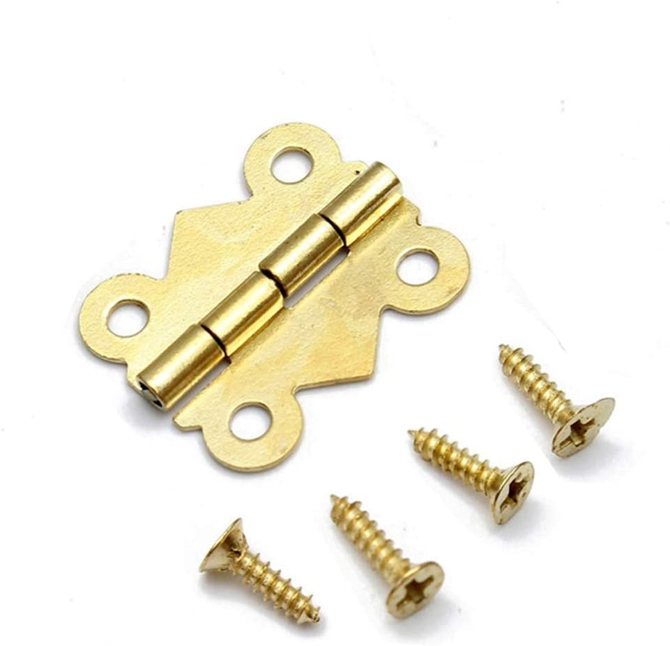 Door Hinges Color: Gold 180 Degrees Butterfly Door Hinge 0.90.75 Inch Ball Bearing Hinges Polished Chrome Suit Internal Doors