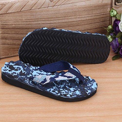 Inkach Heren Slippers Sandalen - Mode Zomer Sandalen Casual Platte Schoenen Strand Slippers Slide-on Blauw