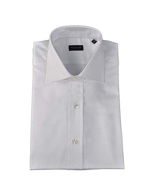 Valentino Diseñador Camisa Camicia Camisa, Ajustado, De Rayas, Azul / Blanco - Azul