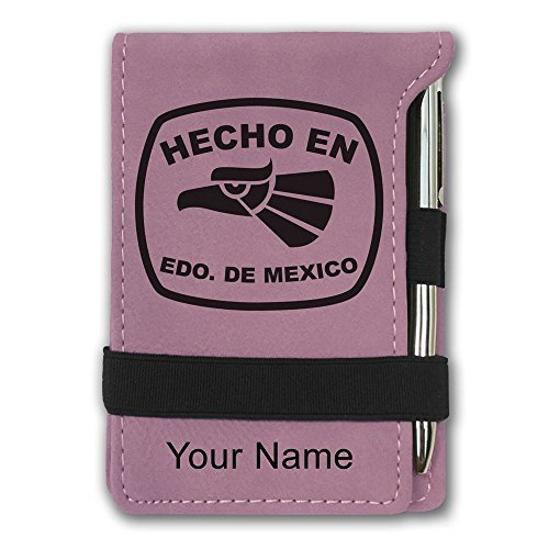 Mini Notepad, Hecho en Edo de Mexico, Personalized Engraving Included (Pink) ()