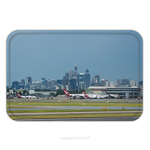 Big W Costumes Australia (Flannel Microfiber Non-slip Rubber Backing Soft Absorbent Doormat Mat Rug Carpet Sydney Australia March Sydney Airport With The Sydney Cbd In Background 405357964 for Indoor/Outdoor/Bathroom/Kitchen/W)
