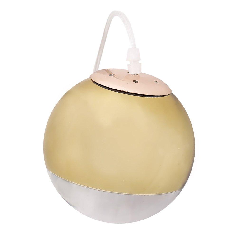 Baosity Modern Art Globe Pendant Light Golden Mirror Glass Ball Lamp Shade Suspension Lamp Kitchen, Dining Room, Bar, Restaurant Lighting Fixtures, Golden 15cm by Baosity