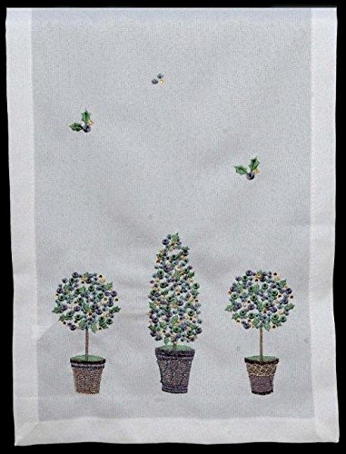 Table Runner in a Christmas Topiary Trees Design