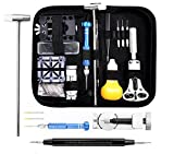 LANIAKEA 112 Pcs Watch Repair Kit Professional Watch Band Link Pin Spring Bar Tool Set with Carrying Case