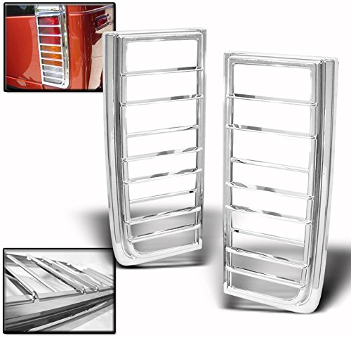 - 2003-2009 Hummer H2 Tail Light Covers Trims - Chrome