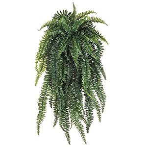 One 60 Inch Long Silk Artificial Boston Fern Bush 55 Branches Plant 8