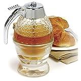 Delaman Honey Syrup Dispenser Jar Container Pot Vintage No Drip Acrylic Storage Pot 200ml